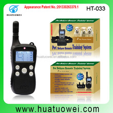Wholesale waterproof best electronic dog training collars with lcd display pet products