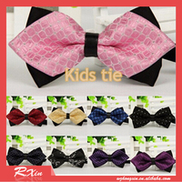 Formal commercial kids bow tie solid color bow ties for boy children accessories butterfly cravat bowtie butterflies