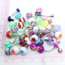 In Stock 50% discount Colorful steel and arcylic eyebrow rings