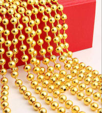 Decorative shimmer screen metal bead string curtain