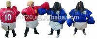 Exciting inflatable sports games/ fighting football player sumo suits sumo wrestling