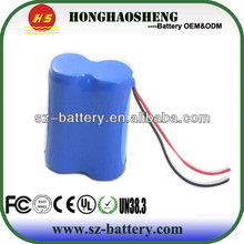 automotive battery pack 7.4 1500mah rechargeable battery