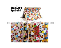 Tablet case cover Sunflowers stand Folio leather case for ipad mini 2 3 4 , for ipad mini case folio ,for ipad case air