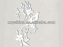 design mirror swift side mirror with a beautiful bird and many flowers B0005