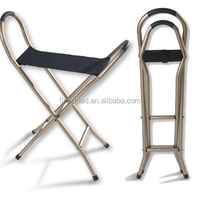 Walking seat cane chair