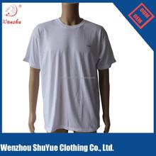 Cheap Custom Bulk blank round neck t shirt stock ,White t shirt ,cotton t shirt printing