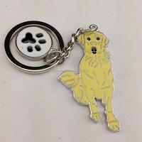 Metal Labrador Retriever keyring,Souvenir Labrador Dog Keychain,Yellow Dog Pendant Key Holder for gift
