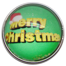 Hot selling Christmas snap button jewelry handmade charms button snaps for press red charms snap button