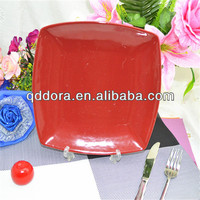European style ceramic solid color glazed plates