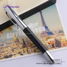2015 hot promotional aluminum roller ball pen set
