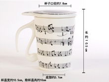 2015 new creative note tave keyboard and cat head ceramic mug with cover and unique handle