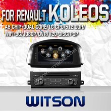 WITSON DOUBLE DIN CAR DVD GPS FOR RENAULT KOLEOS 2014 WITH CAPACTIVE SCREEN BLUETOOTH RDS 3G WIFI