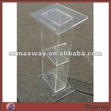 Custom freestanding clear perspex church lectern podium