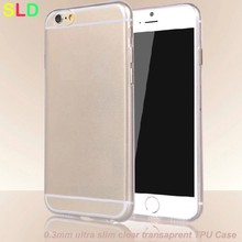 1.4mm ultra slim clear transparent tpu phone cover for apple iphone6s
