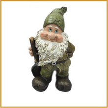 hotsale resin garden gnome with spades dwarf statue