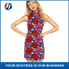 Newest Ladies Flower Print Dress Women Clothing Ropa Mujer