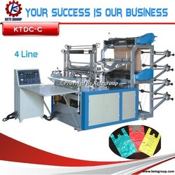 Best 4 line cutting & sealing machine for plastic bags