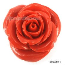 2012 Rose flower synthetic turquoise gemstone beads 20mm