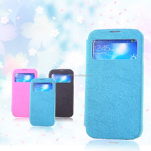 stand high quality leather case for Samsung