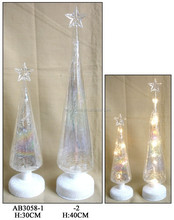 hand made glass Christmas tree decoration with LED
