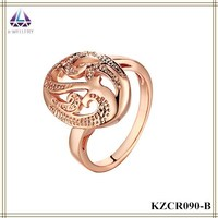 Hot Selling Costume Jewelry Luxury Rose Gold Ring For Women