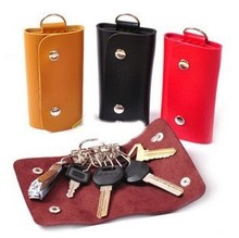 Authentic leather car key case, leather keychains with good quality