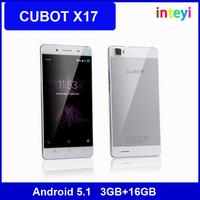 Cubot X17 5.0 FHD 1920x1080 Android 5.1 Cellphone MTK6735 Quad Core 3G RAM 16G ROM 4G LTE Dual Sim Dual Standby
