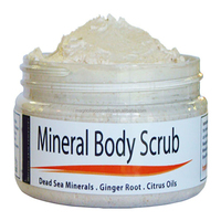 Dead Sea Salt Body Scrub - Exfoliate Face, Body & Hands - Cleanses, Detoxifies and Mineralizes - Leaves Skin Soft