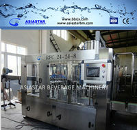 3500-4000BPH 500ml Monobloc 3 in 1 PET bottled Gas drink CSD Washing- filling-capping machine