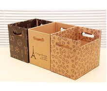 Kraft storage box use in office and in home, brown color fancy storage boxes, classic vintage storage boxes