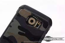 Wholesale new design Camouflage Pattern TPU Protective Case For samsung galaxy S6 edge