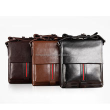 Hot sale men leather business laptop bag crossbody briefcase