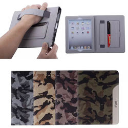 for iPad Air 2 ultra thin case, leather wallet stand case with holder