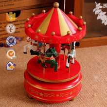 Polyresin Carousel Music Box, Resin round Musical Carousel Music Box For promotion gift
