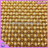 3mm 45*120cm aluminum base rhinestone trimming net sew on crystal strip mesh