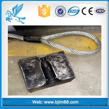 spliced wire rope with ferrules, double loop rope, wire rope eye price