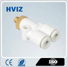 HVIZ the plastic quick connect pneumatic mini tee fitting of U-type outside thread H-KJU