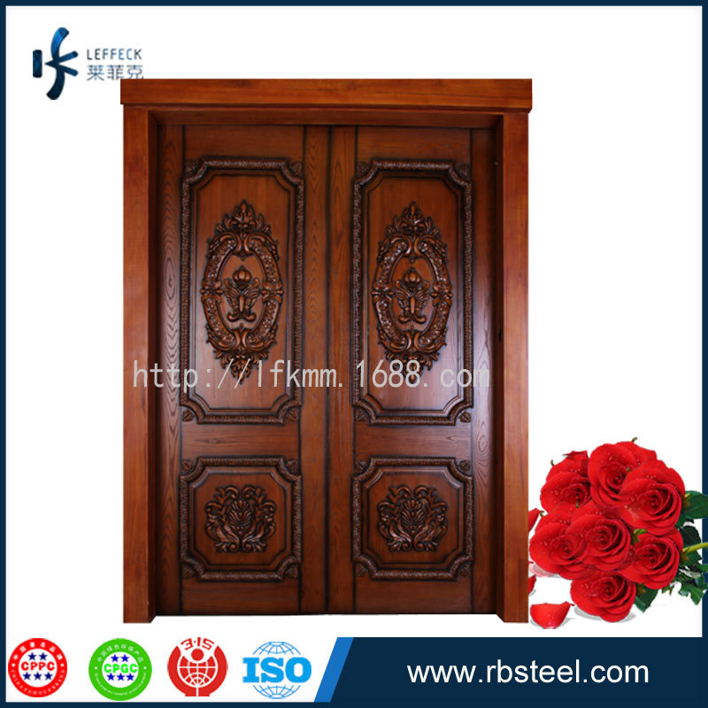 Leffeck factory direct outdoor wood door design with for Wood door design catalogue