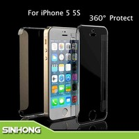 Ultra Thin Crystal Clear Transparent 360 Degree Protect Case For iPhone 5