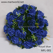2015hot royal blue artificial flower wedding rose flower for wedding decoration party,home&hotel decoration(MFL-001)