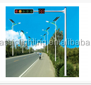 CE hot sales china manufacturer Jiangsu city galvanized solar street light with pole