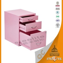 Customized Colorful Bedroom Furniture 3 Drawer Cabinet Nightstands