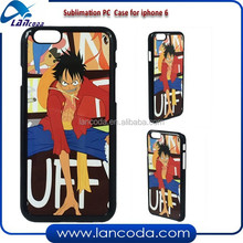 Lancoda new shape sublimation phone case for iPhone6/iphone 6 with metal insert mobile phone cover