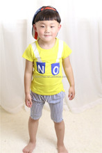 2015 wholesale children clothing sets English letter kid clothes branded wholesale cotton outfits for kids