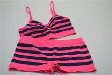 Lady Whole Set Seamless Bra Crop top and Short Panties Underwear