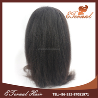 high density 180% Brazilian hair kinky straight heavy yaki full lace wig with stock