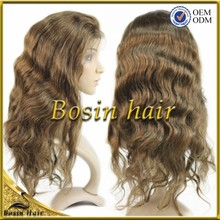 Beauty Style No Silicon Remy Human Hair ,dark brown color #4 hot sale virgin philippine hair full lace wigs