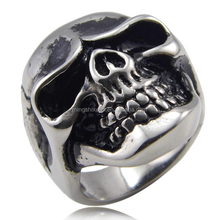 Fashion Custom Stainless Steel Casting Skull Ring Best Friends