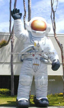 draw human attention inflatable ASTRONAUT cartoon character
