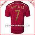 venta al por mayor orden de la mezcla para el hogar 7 david villd calidad original 2014 españa uniformes de fútbol jersey